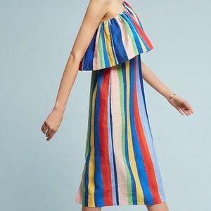 Mara Hoffman Rainbow Stripe One Shoulder Dress